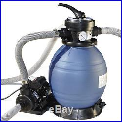 12 Above Ground Pool Sand Filter System and Pump For Intex Pools