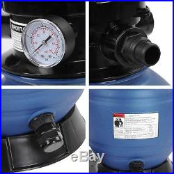 13 Sand Filter 2400GPH 3/4 HP Above Ground Swimming Pool Pump System Compatible