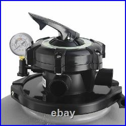 19 Sand Filter Above Ground Swimming Pool Pump 4500GPH 1.5HP Pump with Stand