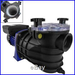 1HP Electric Water Pump SPA Swimming Pool Pond 1-1/2 IN/OUT Drainer Strainer