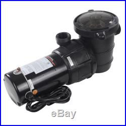 1.5HP Above Ground Swimming Pool Pump Motor Outdoor 4980GPH 3450RPM With Strainer