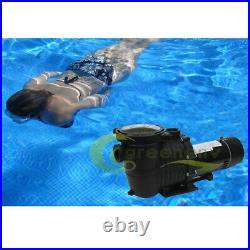230V 2HP 2-Speed High-Flo INGROUND Swimming POOL PUMP Strainer Energy Saving
