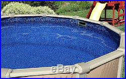 24' FT Round Overlap Cracked Glass Above Ground Swimming Pool Liner-25 Gauge