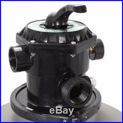 24 Inch Swimming Pool Sand Filter With 7 Way Valve Inground Pond Fountain New