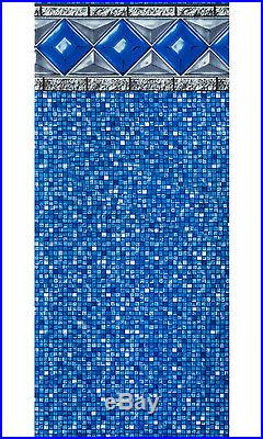 24'x54 Ft Round Unibead Crystal Tile Above Ground Swimming Pool Liner-25 Gauge