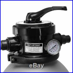 2640 GPH Self Priming Swimming Pool Pump with Timer 13 Sand Filter Above Ground
