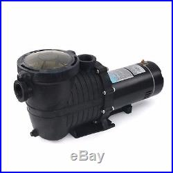 2 HP Inground Above Ground Swimming Pool Pumps Strainer Basket 1.5 Inlet Outlet
