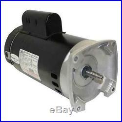 A. O. Smith B2853 1HP 115V Single Speed Square Flange Pool Pump Motor Whisperflo