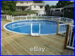 Above Ground Swimming Aluminum White Pool Safety Fence Kit A 08 Spans
