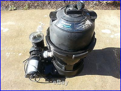 Above ground pool filter and pump
