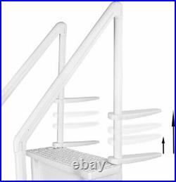Aqua Select 28 Wide Above Ground Heavy Duty Swimming Pool Step Ladder System