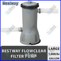 Bestway Flowclear 1000 GPH Above Ground Swimming Pool Filter Pump Set 58664E