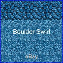 Boulder Swirl Above Ground Round Overlap Pool Liner 20 Gauge