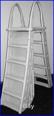 CONFER 7200 Guard Heavy Duty A Frame Aboveground Swimming Pool Ladder 48-56