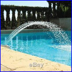 Colorfoul Pool Accessory Lights Show Waterfall Fountain Above Ground withLED Light