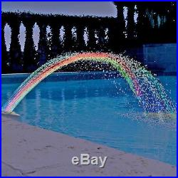 Colorful Pool Accessory Lights Show Waterfall Fountain Above Ground withLED Light