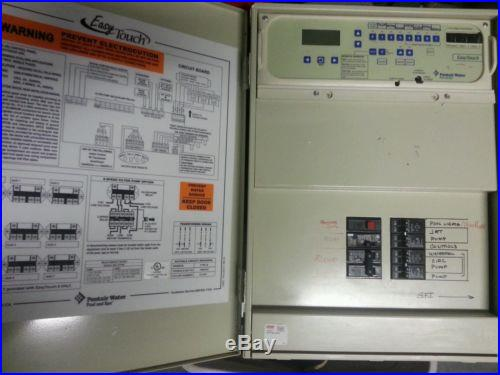 Complete Easy Touch 8 panel pentair equipment, automation panel, wireless remote