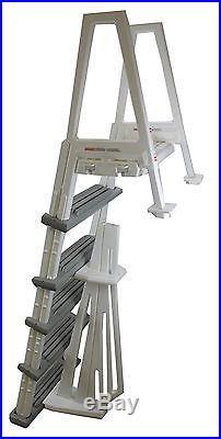 Confer Heavy-Duty Above-Ground Swimming Pool Ladder 46-56 Inches, Gray 6000B