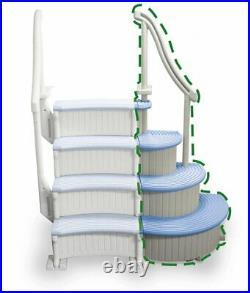 Confer Plastics CCXAG-B Blue Curve Above Ground Corner Add-On Swimming Pool Step