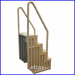 Confer STEP-1VM Heavy-Duty Above Ground Swimming Pool Ladder Stair Entry System