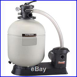 Hayward S166T92S Above Ground Swimming Pool Sand Filter with1 HP Pump & S166T