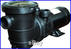 High Performance Swimming Pool Pump Above-Ground 1 HP-115v with 6 ft elec cord