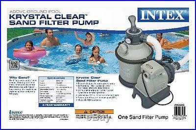 INTEX 1200 GPH Krystal Clear Sand Pool Filter Pump Set 110-120 Volt 28643EG