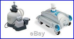 INTEX 3000 GPH Above Ground Pool Sand Filter Pump and INTEX Automatic Vacuum