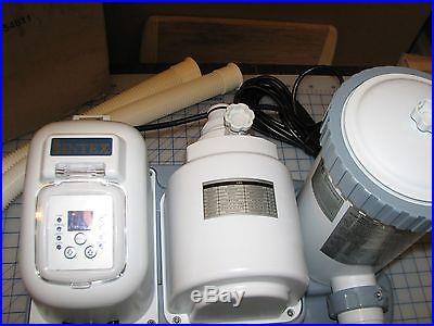 INTEX KRYSTAL CLEAR SALTWATER SYSTEM POOL FILTER PUMP COMBO CS8111 2000 GPH 120V
