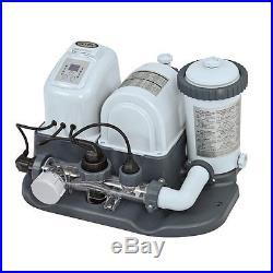 Intex 120V Krystal Clear Saltwater System Pool Chlorinator & Filter Pump