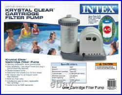 Intex 1500 GPH Easy Set Pool Filter Cartridge Pump with Timer & GFCI 28635EG