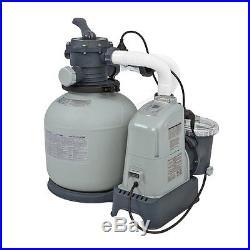 Intex 1600 Gph Saltwater System Sand Filter Pump Swimming Pool Set 28675eg Affordable Pool Parts