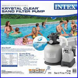 Intex 28651EG Krystal Clear 3000 GPH Above Ground Swimming Pool Sand Filter Pump