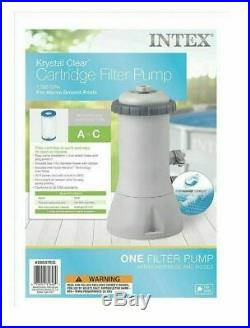 Intex Krystal Clear Cartridge Filter Pump Above Ground Pools 1000 GPH SHIPS FAST