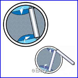 Leisure Living Above Ground Solar Cover Reel for Swimming Pool up to 24' Wide