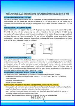 Lemonpool PCB Main Circuit Board&PCB Display Board Fit Hayward AquaRite System
