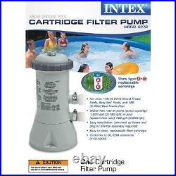 NEW Cartridge Filter Pump for Above Ground Pools 1000 GPH 10-120V with GFCI