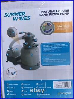 New In Hand Summer Waves / Polygroup 1,400 Gph 10 Sand Filter Pool Pump 1400