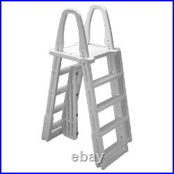 Ocean Blue A-Frame Swing Up & Lock Ladder For Above Ground Swimming Pool