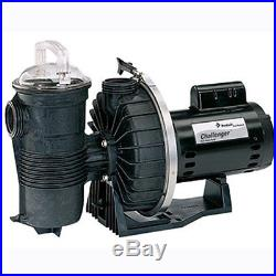 Pentair Challenger 1HP Up-Rated High Flow Inground Swimming Pool Pump 343233