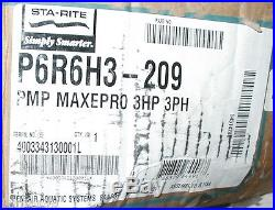 Pentair Sta-Rite Max-E-Pro 3 HP Swimming Pool Pump 208-230/460v 3 Phase