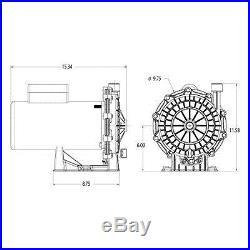 Pressure Side Pool Cleaner Booster Pump 3/4 HP replace Polaris PB460 by Waterway