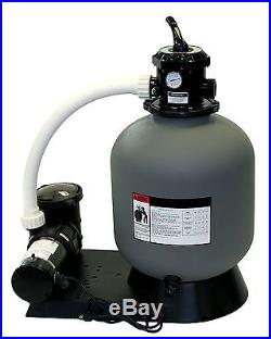 Radiant 24 Inch In-Ground Swimming Pool Sand Filter System with1 HP Pump