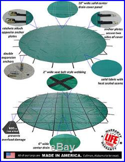 Ratchet-Lock Safety Pool Cover for In-Ground Round