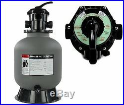 Rx Clear Swimming Pool Above Ground & In-Ground Sand Filter with 6-Way Valve