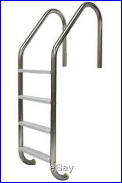 SR Smith 4-Step Polished Stainless Steel Swimming Pool Ladder For Inground Pools