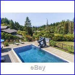 S. R. Smith heliX2 640-209-58124 Pool Twist Slide, Gray Granite for Swimming Pools