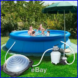 Solar Water Heater Inground &Above Ground Swimming Pool Water Heater Black