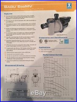 Speck Badu EcoMV Pool Pump Variable Speed