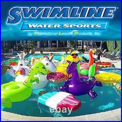Swimline 24' Solid Blue Round Above Ground Swimming Pool Overlap Liner